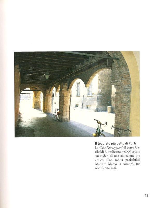 Il loggiato più bello di Forlì. Pagina del libro L'altro Palmezzano di Marino Mambelli