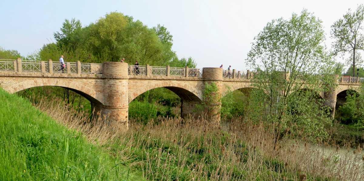 Il ponte sul fiume Rabbi realizzato nel 1860 e restaurato nel 2005. Foto Forlipedia anno 2014.