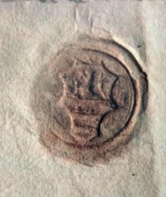 Lo stemma di Pino III dall'Archivio di Stato di Modena.