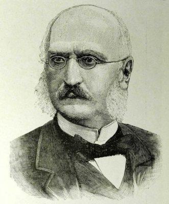 """Il conte Cesare Albicini. Zincografia tratta da """"L'Illustrazione Italiana"""" del 9 agosto 1891. Raccolta privata"""