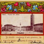 900 forlivese anzi italiano, Immagine. Piazza Vittorio Emanuele.