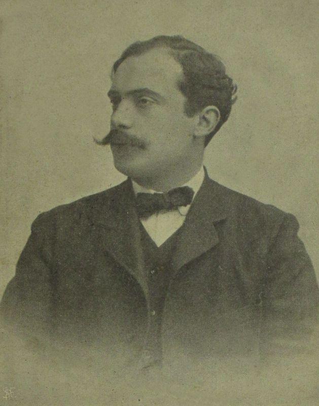 Genuzio Bentini, nato a Forlì il 7 giugno 1874. Importante avvocato del Foro Bolognese e membro della direzione del partito Socialista. Cartolina Illustrata. Particolare. Raccolta privata.