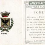 Lo stemma di Forlì sulle figurine Brioschi. Collezione privata.